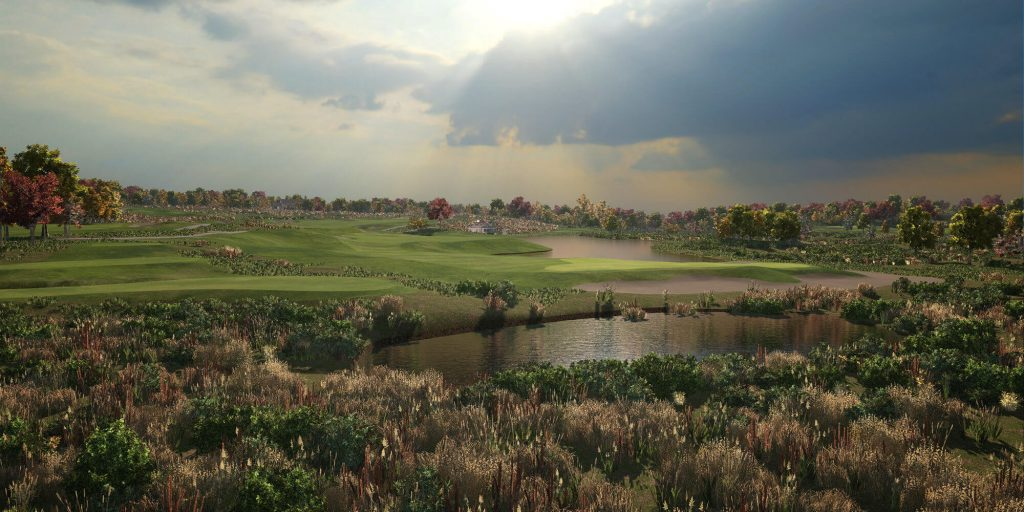 I need Golf Simulatorbild vom Golfplatz